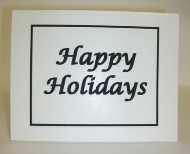 Happy Holidays Card with Envelope