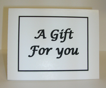 A Gift For You Card with Envelope
