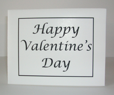 Happy Valentine's Day Card with Envelope
