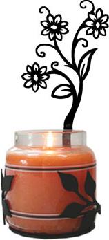 Shasta Daisy - Large Jar Sconce-Left