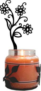 Shasta Daisy - Large Jar Sconce-Right