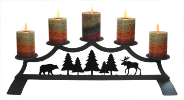 Moose - Fireplace Pillar Candle Holder