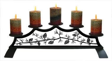 Pinecone - Fireplace Pillar Candle Holder