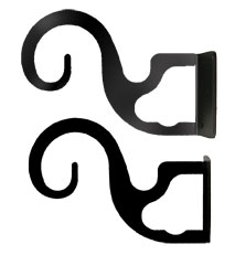 Curtain Brackets For Two or Three 3/4 Inch Rods