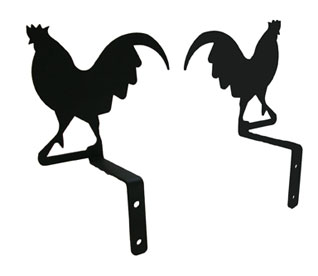 Rooster - Curtain Swags