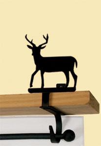 Deer - Curtain Shelf Brackets