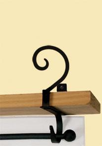 Scroll - Curtain Shelf Brackets