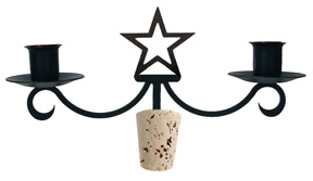 Star - Wine Bottle Topper
