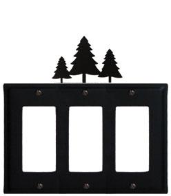 Pine Trees - Triple GFI Cover