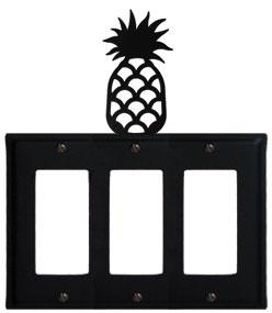 Pineapple - Triple GFI Cover