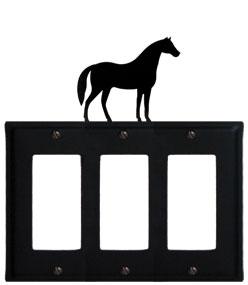 Horse - Triple GFI Cover