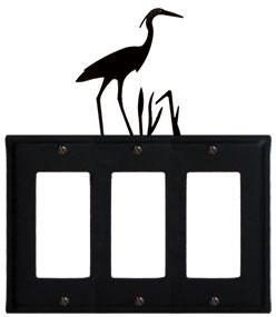 Heron - Triple GFI Cover