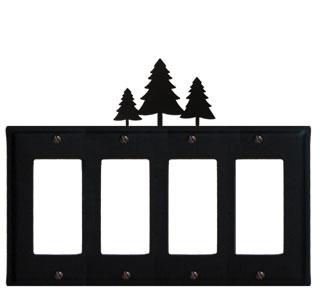 Pine Trees - Quad. GFI Cover