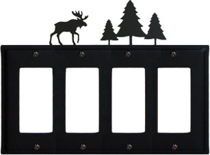 Moose & Pine Trees - Quad. GFI Cover