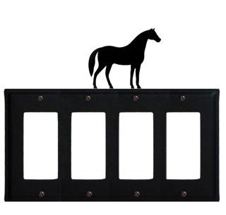 Horse - Quad. GFI Cover