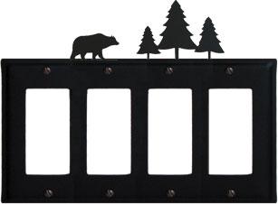 Bear & Pine Trees - Quad. GFI Cover