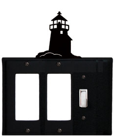 Lighthouse - Double GFI and Single Switch Cover