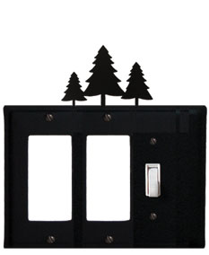 Pine Trees - Double GFI and Single Switch Cover