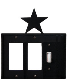 Star - Double GFI and Single Switch Cover