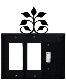 Leaf Fan - Double GFI and Single Switch Cover