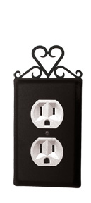 Hear t- Single Outlet Cover