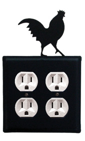 Rooster - Double Outlet Cover