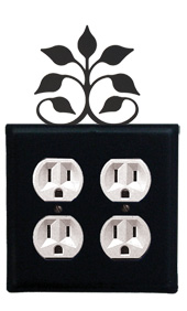 Leaf Fan - Double Outlet Cover