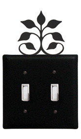Leaf Fan - Double Switch Cover