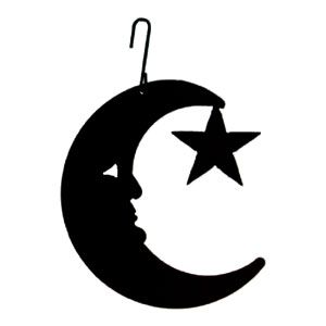 Moon/Star - Decorative Hanging Silhouette